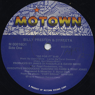 Billy Preston & Syreeta / Go For It front