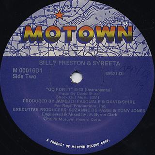 Billy Preston & Syreeta / Go For It back