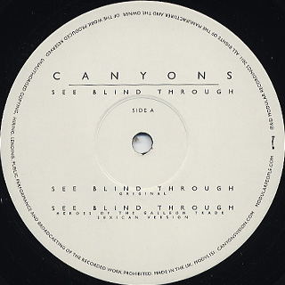 Canyons / See Blind Through