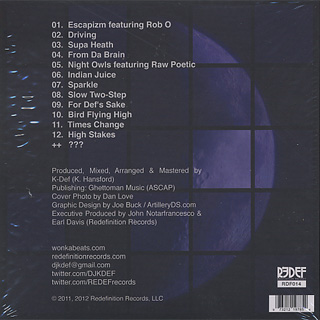 K-Def / Night Shift (CD) back