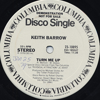 Keith Barrow / Turn Me Up c/w Instrumental front