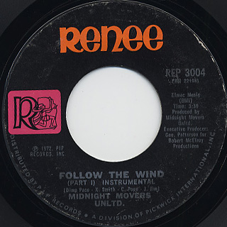 Midnight Movers Unltd. / Follow The Wind c/w (Part II - Instrumental)