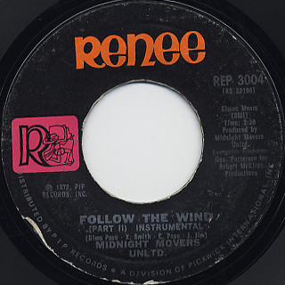 Midnight Movers Unltd. / Follow The Wind c/w (Part II - Instrumental) back