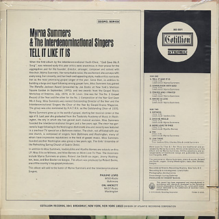 Myrna Summers And The Interdenominational Singers / Tell It Like It Is back