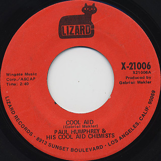 Paul Humphrey And His Cool Aid Chemists / Cool Aid c/w Detroit