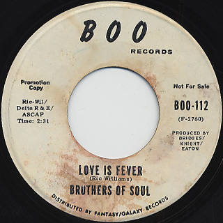 Brothers Of Soul / Love Is Fever back