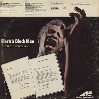 Eric Mercury / Electric Black Man back