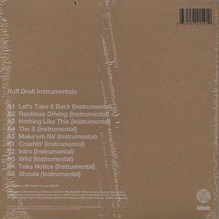 J Dilla / Ruff Draft Instrumentals (Full Color Jacket) back