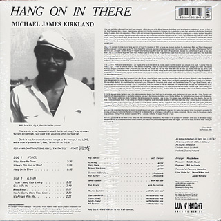 Mike James Kirkland / Hang On In There back