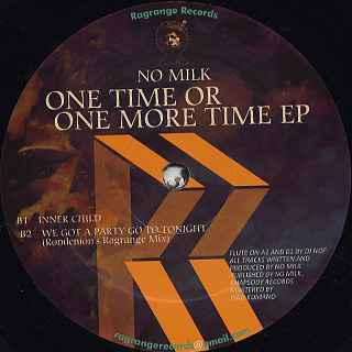 No Milk / One Time Or One More Time EP back