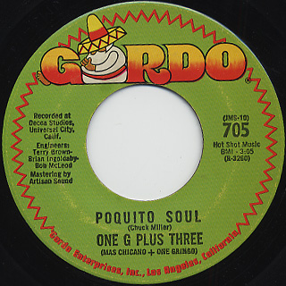 One G Plus Three / Poquito Soul c/w Summertime