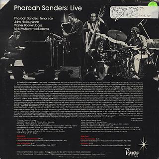 Pharoah Sanders / Live... back