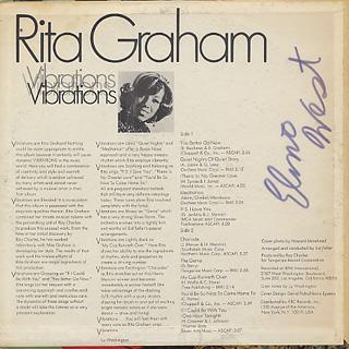 Rita Graham / Vibrations back