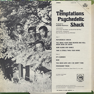 Temptations / Psychedelic Shack back
