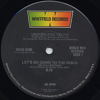 Undisputed Truth / Let's Go Down To The Disco c/w You + Me = Love