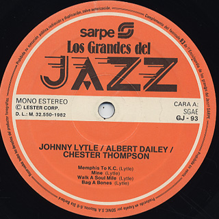 Johnny Lytle / Los Grandes Del Jazz label