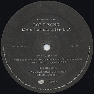 Lord Echo Melodies Sampler Ep Plain Sleeve 12inch