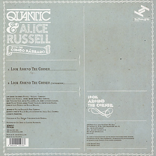 Quantic & Alice Russell With The Combo Barbaro / Look Around The Corner back