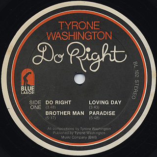 Tyrone Washington / Do Right label