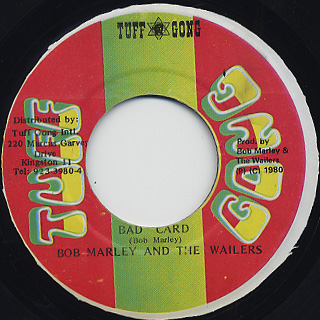 Bob Marley & The Wailers / Bad Card back