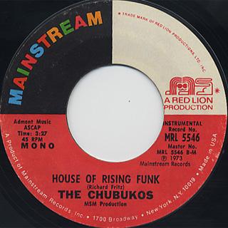 Chubukos / House Of Rising Funk back