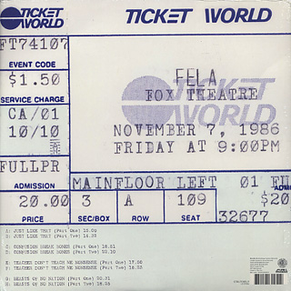 Fela Kuti / Live In Detroit 1986 (4LP) back
