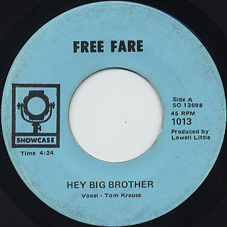 Free Fare / Hey Big Brother front