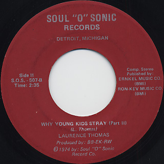 Laurence Thomas / Why Young Kids Stray back