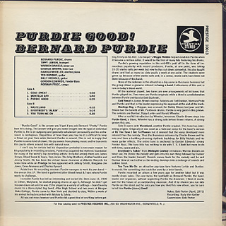 Bernard Purdie / Purdie Good! back