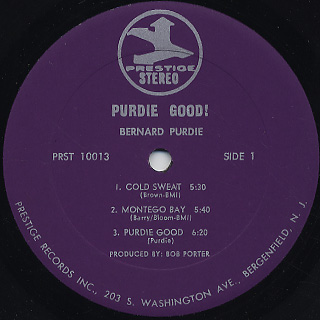 Bernard Purdie / Purdie Good! label