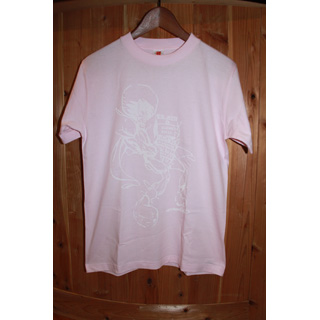 Andres Limited T-Shirts / Big Print (Pink x White) [M]