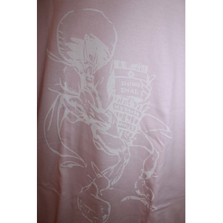 Andres Limited T-Shirts / Big Print (Pink x White) [M] back