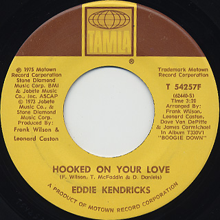 Eddie Kendricks / Hooked On Your Love front