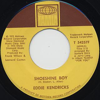 Eddie Kendricks / Hooked On Your Love back