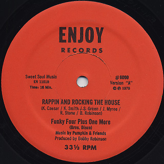 Funky Four Plus One More / Rappin And Rocking The House