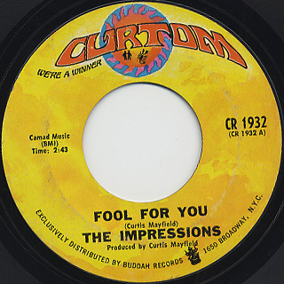 Impressions / Fool For You c/w I'm Loving Nothing