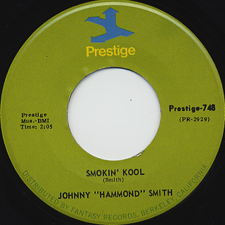 Johnny Hammond / I'll Be There c/w Smokin' Kool back
