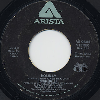 Mandrill / Holliday c/w Can You Get It
