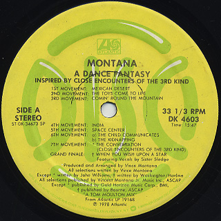 Montana / A Dance Fantasy c/w Warp Factor II back
