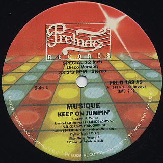 Musique / Keep On Jumpin' c/w In The Bush