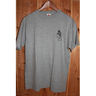 Andres Limited T-Shirts / One Point Print (Gray x Black) [M]
