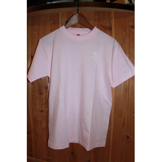 Andres Limited T-Shirts / One Point Print (Pink x White) [M]