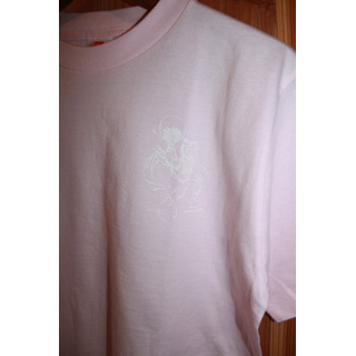 Andres Limited T-Shirts / One Point Print (Pink x White) [M] back
