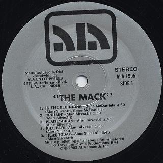 O.S.T.(Alan Silvestri / Eugene McDaniels) / The Mack label