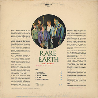 Rare Earth / Get Ready back