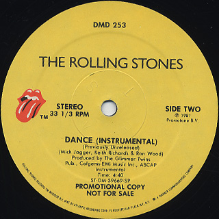 Rolling Stones / If I Was A Dancer(Dance Pt.2) c/w Dance(Inst.) back