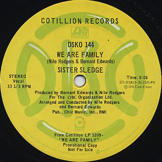 Sister Sledge / He's The Greatest Dancer c/w We Are Family back