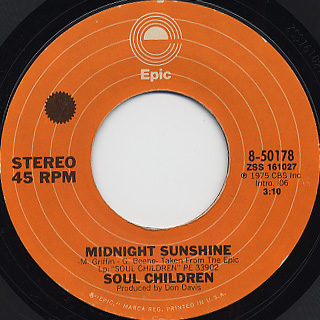 Soul Children / Finders Keepers c/w Midnight Sunshine back