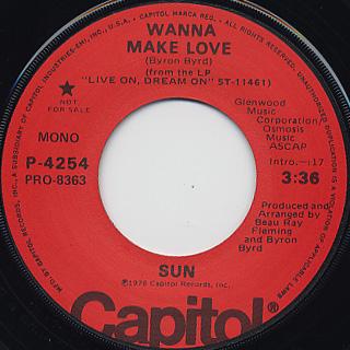 Sun / Wanna Make Love back