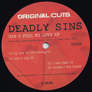 Deadly Sins / Can U Feel My Love EP back
